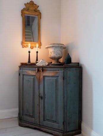 corner cabinet  Typical for Sweden: putting furniture in the corner