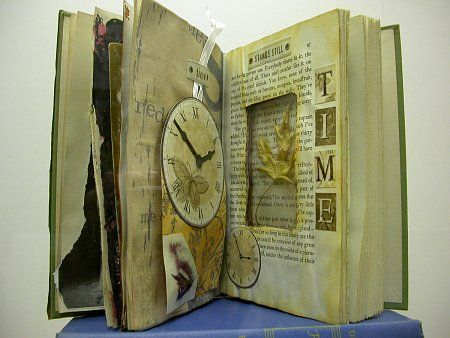 altered books would be such a cool art project for 4th-6th graders! I would love to do this with my future class if we could get the old books donated to us