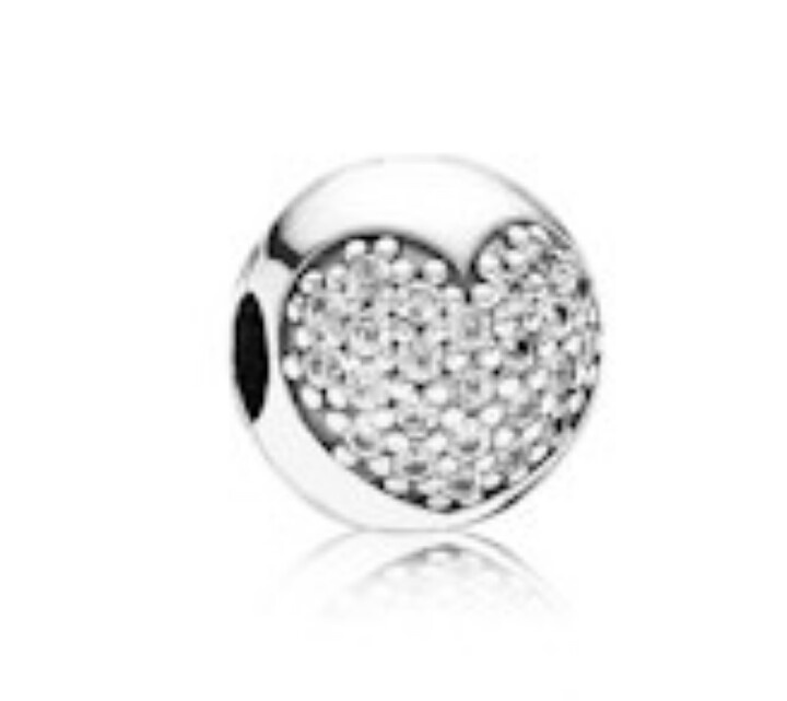 [Sponsored]Silver Interlocked pave Hearts Charm Compatible With Pandora, Chamilia, Biagi, Troll bmp