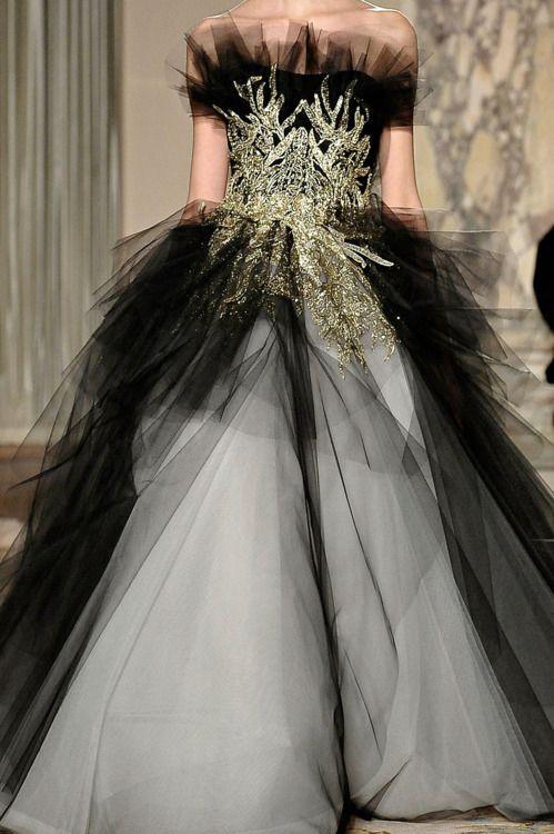 Marchesa Fall 2012: Black Ties, Runway Fashion, Black Clothing, 2012 Details, Fall 2012, Fw 2012, Fallwint 2012, Marchesa Fall, 2012 Rtw