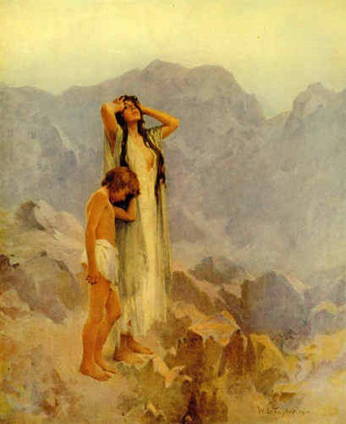 William Ladd Taylor - Hagar And Ishmael In The Wilderness: