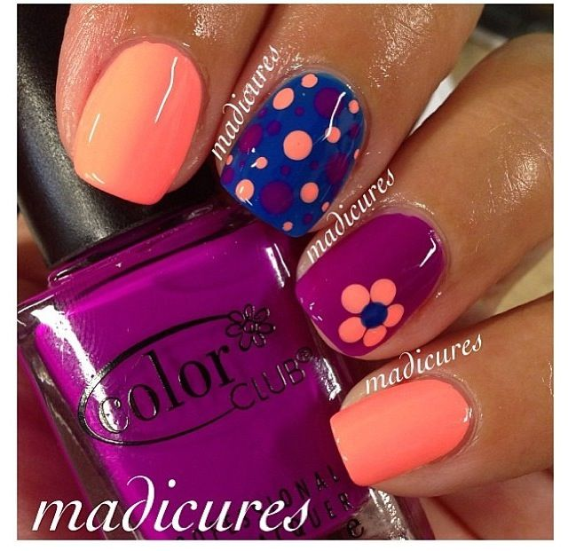 Simple Nail Art With 2 Colors: 25+ Best Ideas About Two Color Nails On Pinterest