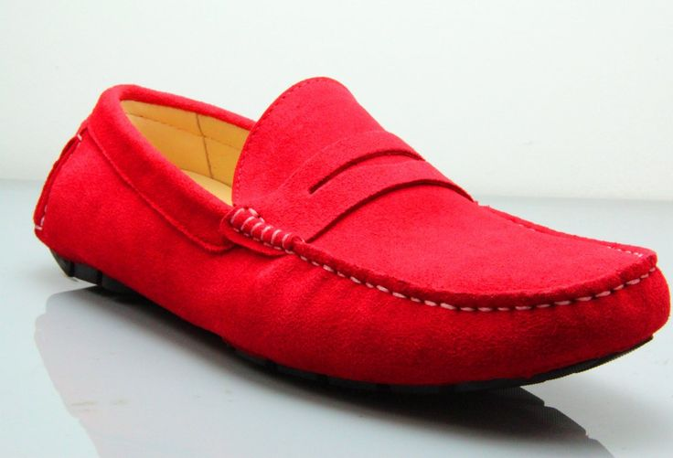 Want To Relax In Style? Get A Pair Of Our Fane Flap Cherry Suede Loafers! #institchu #suedeloafers #footwear #menswear #mensstyle