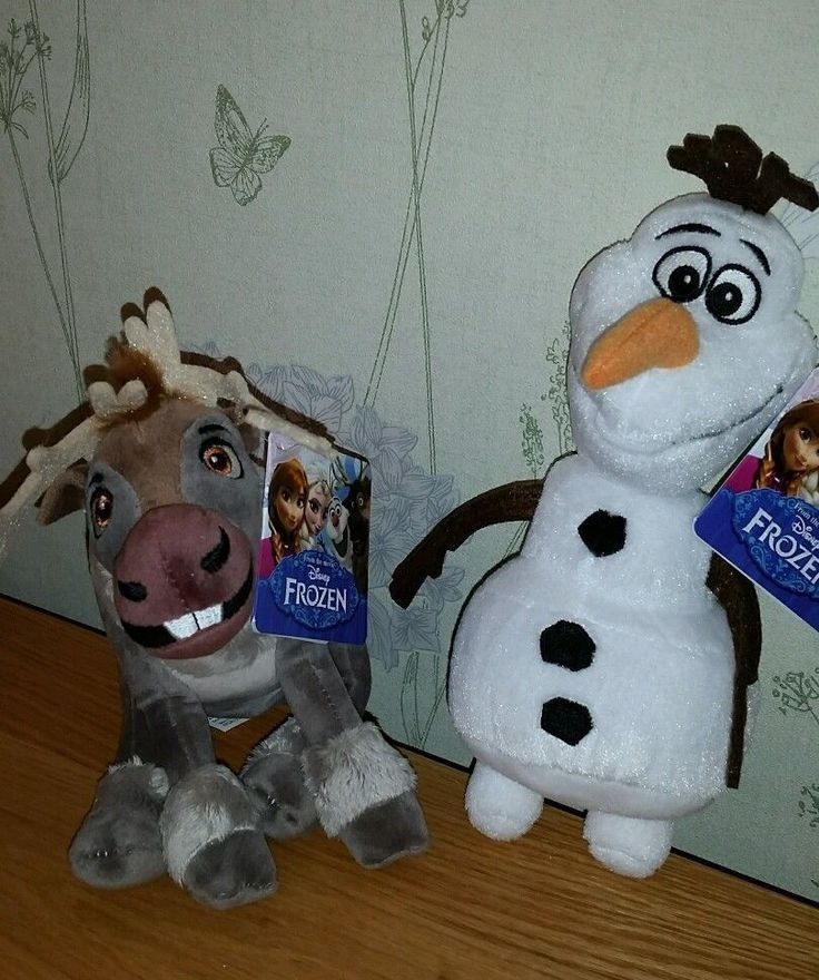 "Disney Frozen soft plush TOYS  9"" Olaf 8"" & Sven  20/23 cm job lot BOTH  of THEM"