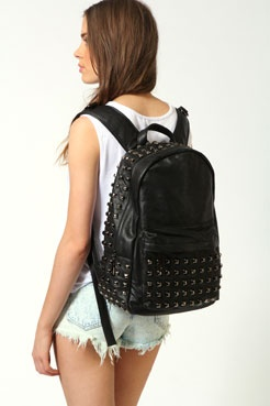 black studded bag from boohoo.com