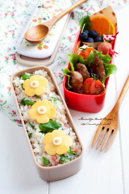 Love Japanese Bento Lunch #Flower bento