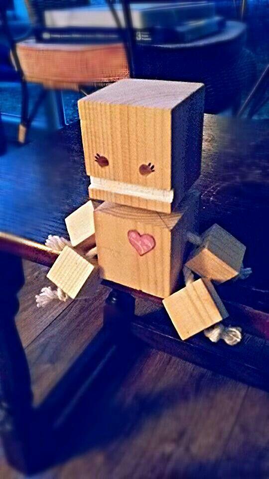 Block Bot ♡ Blockhesds Wood Toys Wood Crafts Wooden Toys