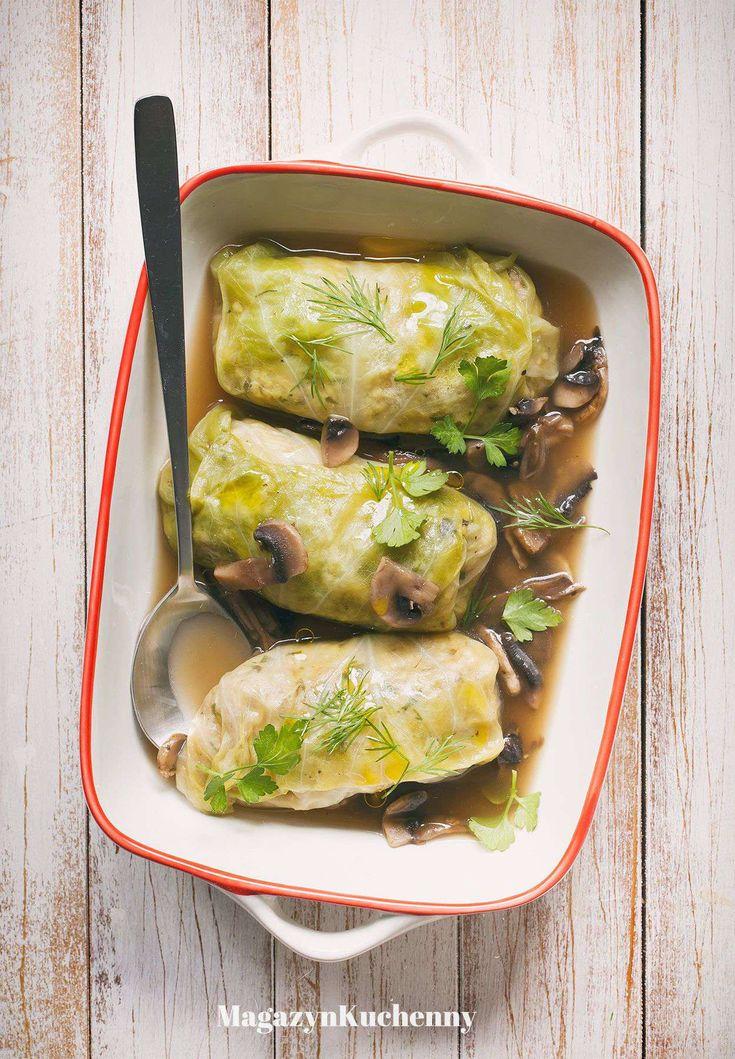 Cabbage rolls stuffed with barley and chickpeas | Gołąbki z kaszą jęczmienną i ciecierzycą
