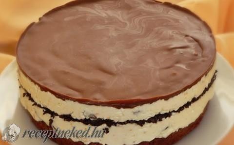 Mazsolás-narancsos Túró Rudi torta recept fotóval