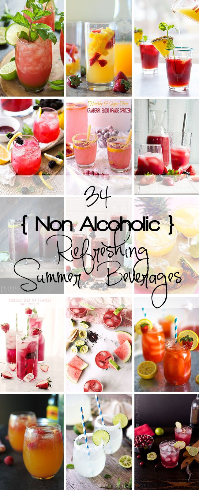 34 Non Alcoholic Refreshing Summer Beverages to keep your taste buds quenched and guessing not all summer long but all year long!