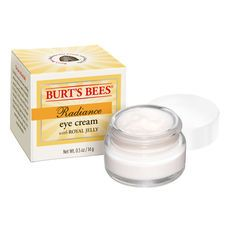Radiance Eye Cream - Burt's Bees. And no animal testing unlike most other eye cream brands!