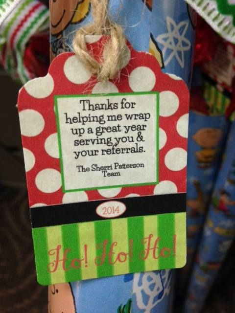Thanks for helping me wrap up a great year serving you and your referrals.