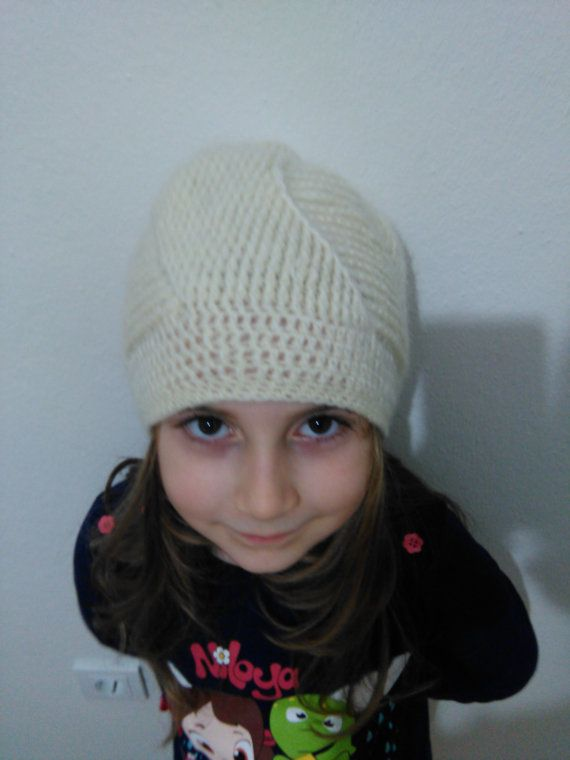 Beige Knitted BeanieGirl BeanieBeige Knitted Hat by SELINCE