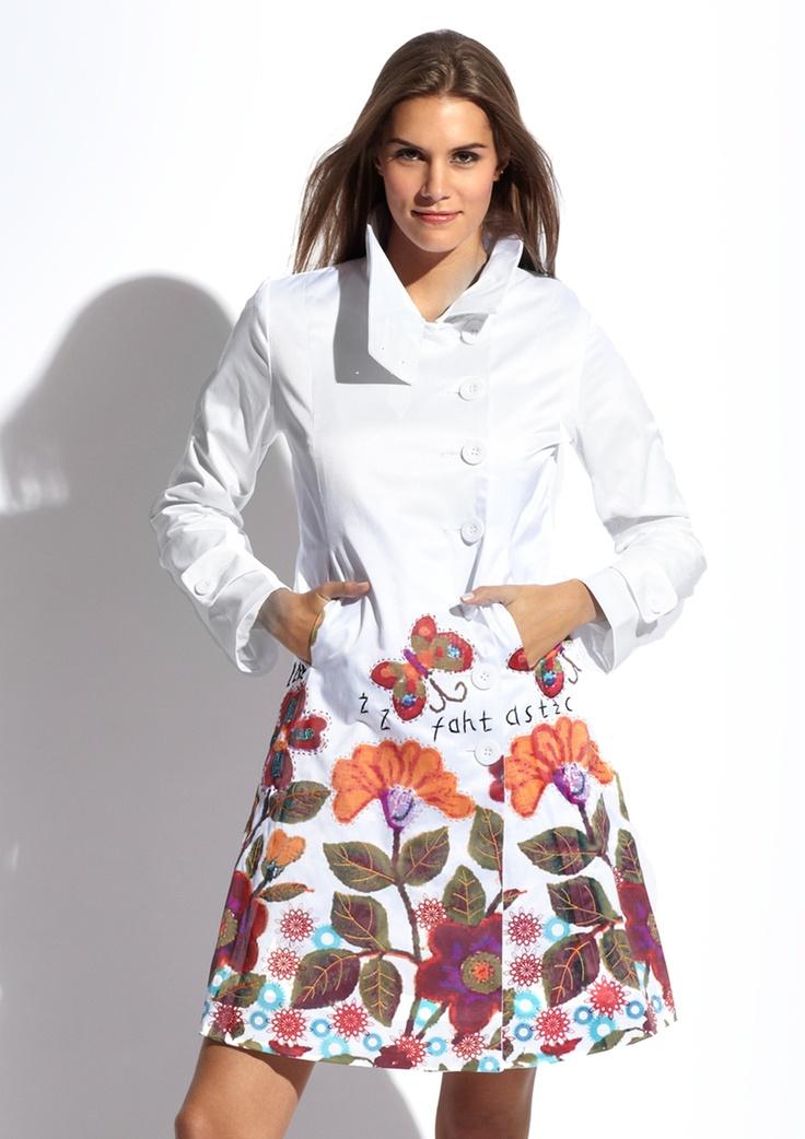 DESIGUAL Mockneck Cotton Coat