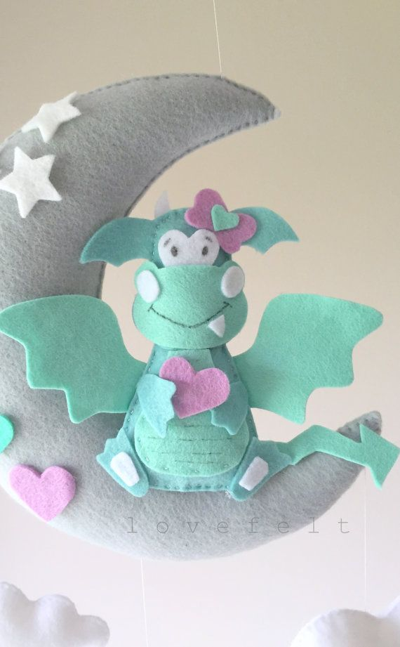 Baby mobile dragon mobile baby mobile dragon by lovefeltmobiles