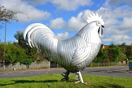 Dorking, Surrey. The Dorking Cockerel on the A24 roundabout