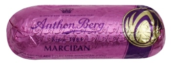Anthon Berg marcipan bar. It is a marcipan bar covered in dark chocolate.