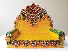 Singhasan Pooja Aasan, Chowki mandir Handmade Fast colour - Washable