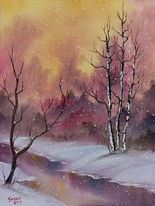Bob Ross Painting - Winter Enchantment by C Steele                                                                                                                                                                                 More