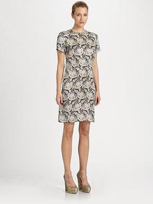 Stella McCartney Silk Lace Print Dress