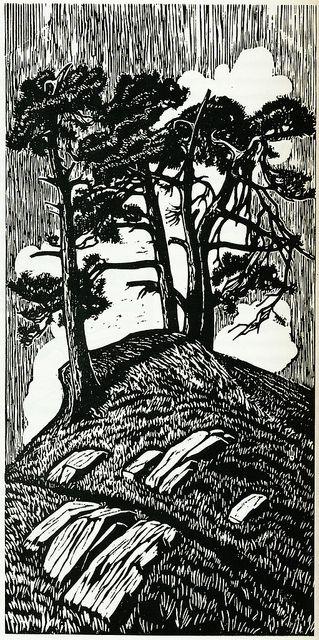 Gustav Vigeland, woodcut