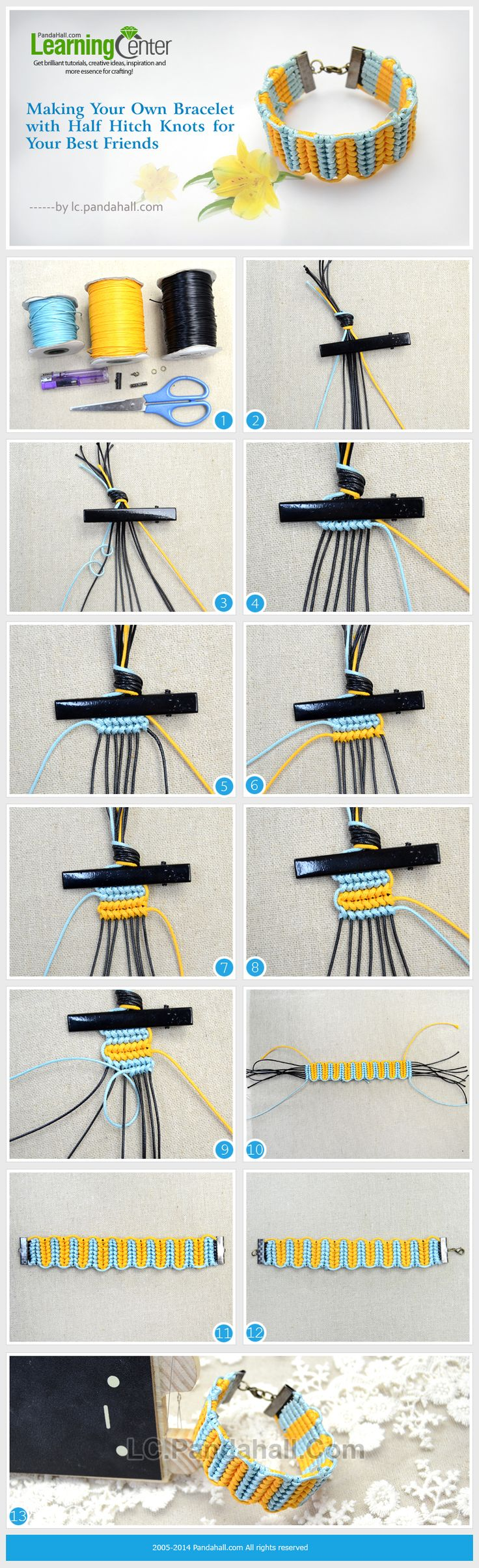 Making Your Own Bracelet with Half Hitch Knots for Your Best Friends
