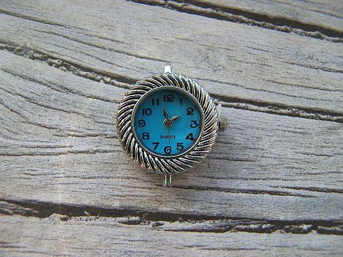 Horloge kastje blauw  www.xitin.nl