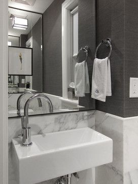 Modern Classic Residence - modern - powder room - toronto - by Croma Design Inc