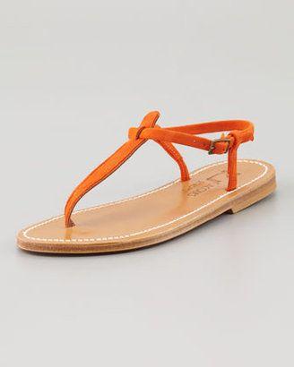 K Jacques Picon T Strap Thong Sandal Red K. Jacques