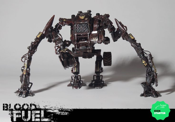 ArtStation - Digger 32, Blood Fuel Custom Mech Kit-bash, Custom Toy, Articulated Sculpture, Hand painted and weathered, Created and Designed by Caleb Prochnow, concept design, visual development