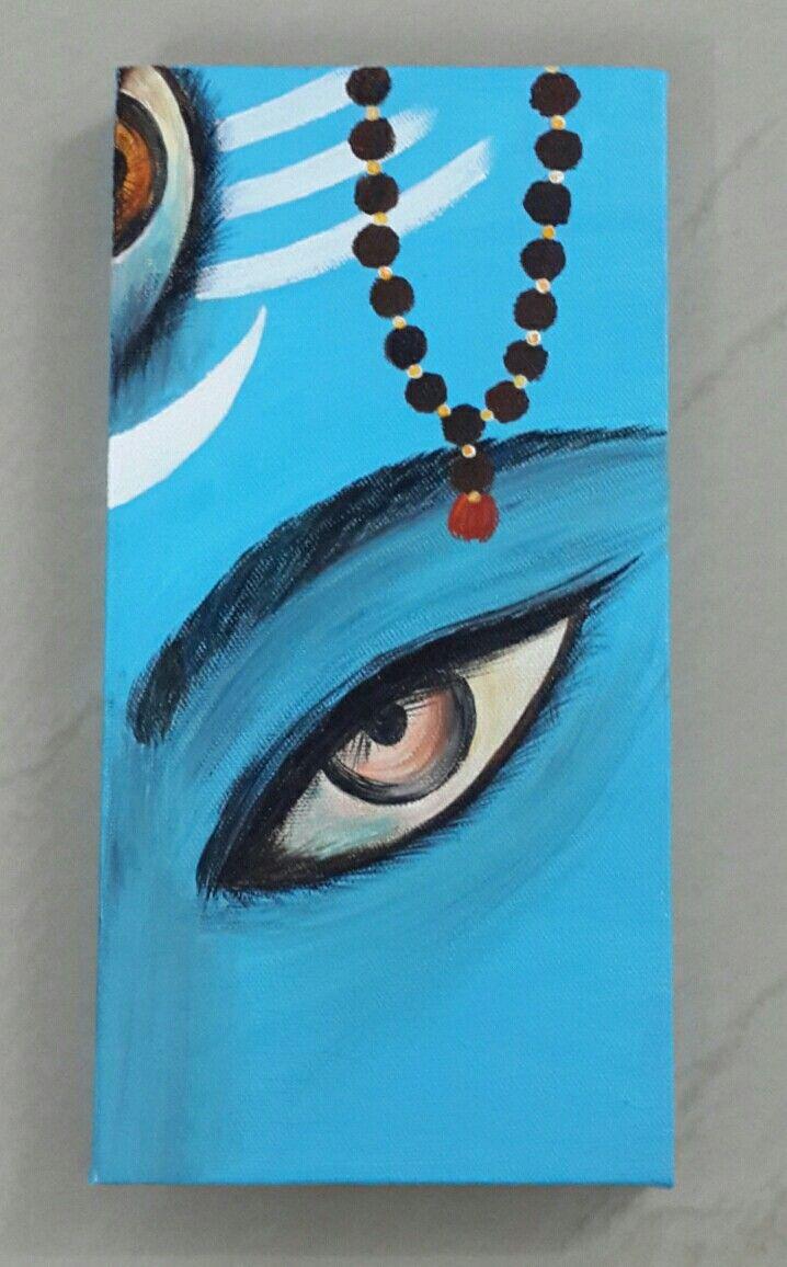 Shiva Acrylic painting