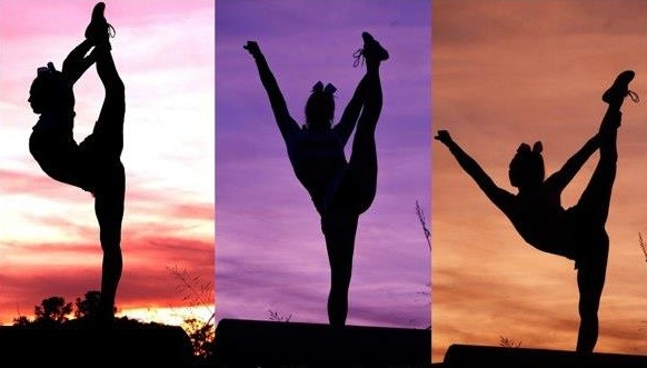 I've always wanted to do a cheer sillohlett photos like these
