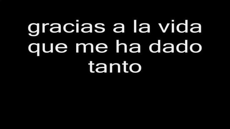 Violeta Parra - Gracias a la vida Letra HD