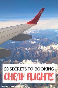 23 secrets to booking cheap flights