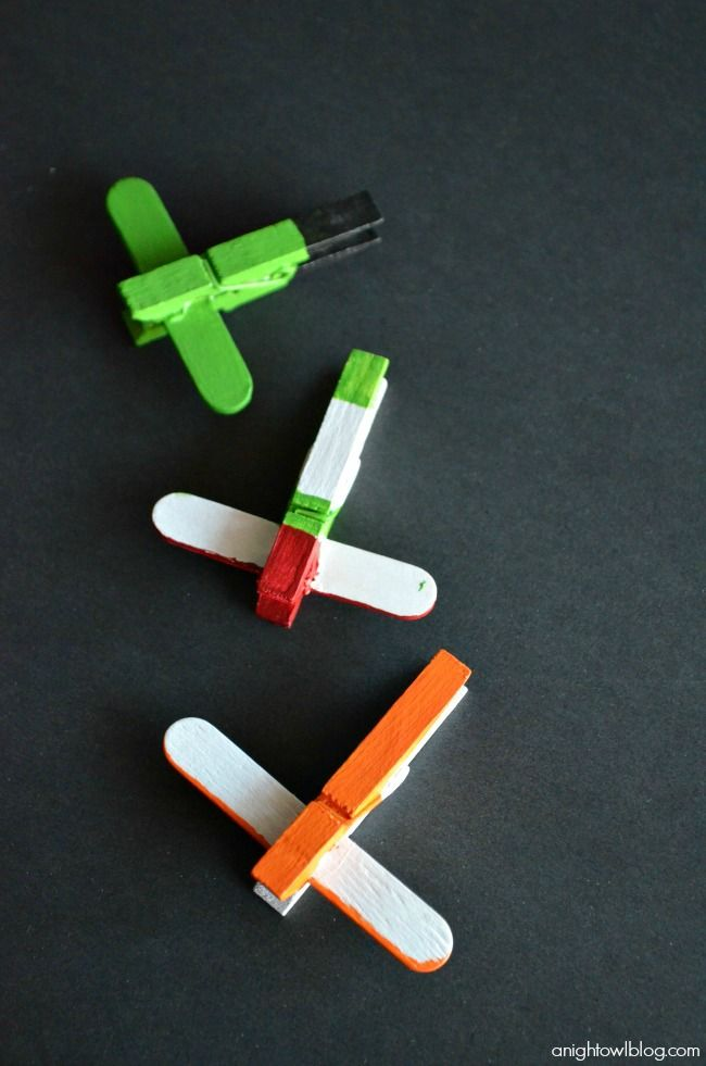 Disney Planes DIY Mini Clothespin Airplanes #OwnDisneyPlanes, Lucas loved this!