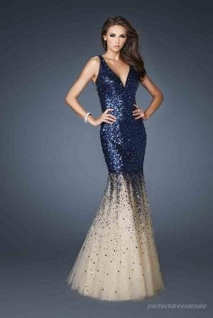 Natural Mermaid Prom Dresses Tulle Royal Blue Prom Dresses 06244