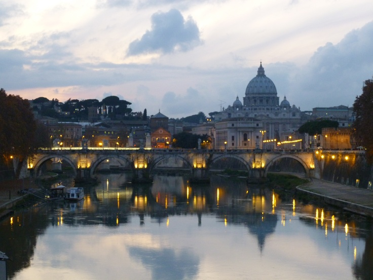 The Vatican at twilight