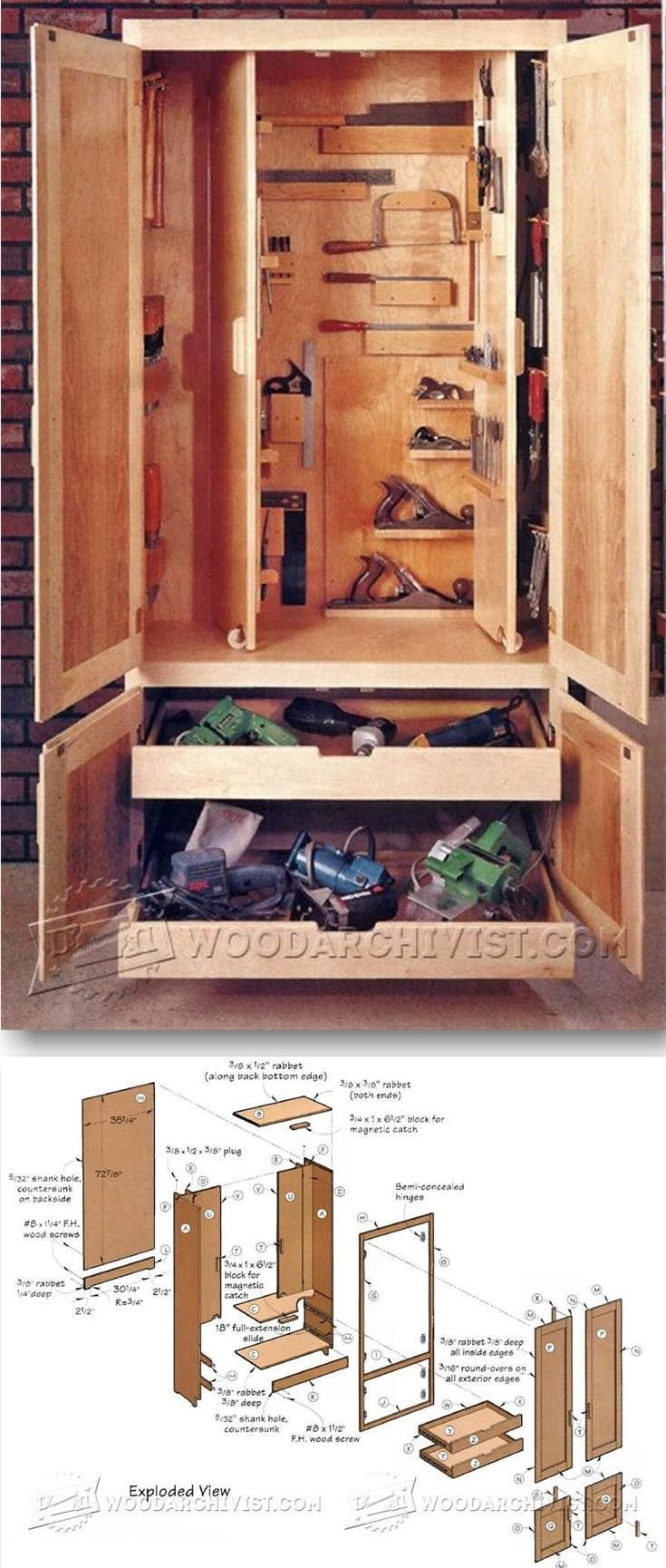 Shop Cabinet Plans - Workshop Solutions Plans, Tips and Tricks | WoodArchivist.com