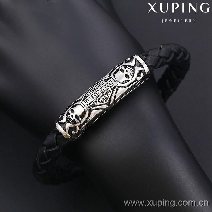 Xuping náramek muži bf-50 náramky z nerezové oceli levné kožené