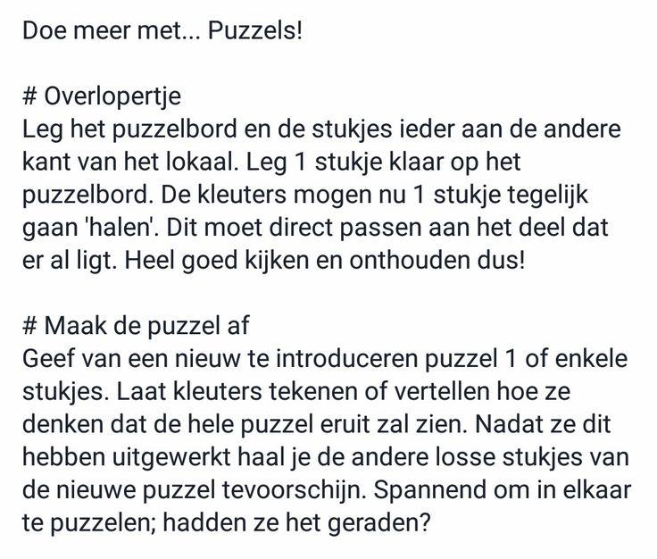Doe meer met puzzels