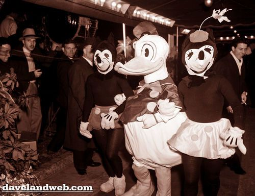 How the Mickey  and Minnie costumes changed over the years in Disney parks and at various other Disney-related events and locations.