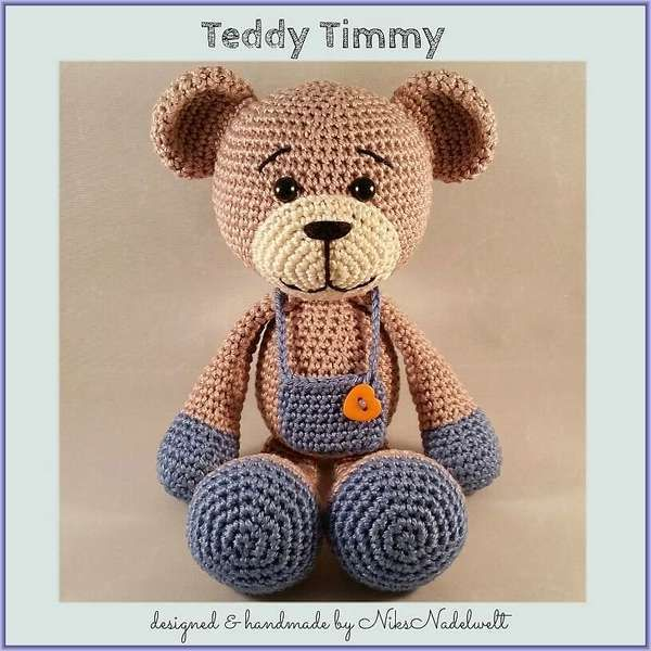Häkelanleitung - Teddy Timmy