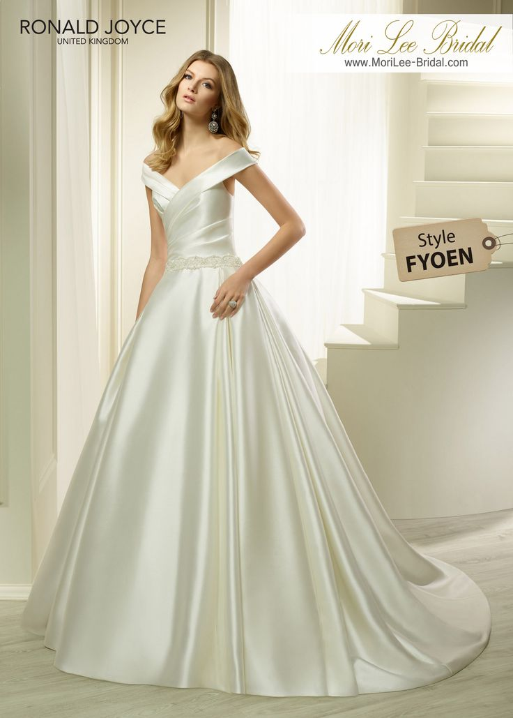 Style FYOEN HALEEMAA SPECIAL SATIN BALL GOWN WITH A RUCHED BODICE, OFF-THE-SHOULDER NECKLINE AND BEADED BELT DETAIL. PICTURED IN IVORY.*DISCLAIMER*BEADED BELT DIFFERS FROM THE WEB REPRESENTATION.COLOURSIVORY