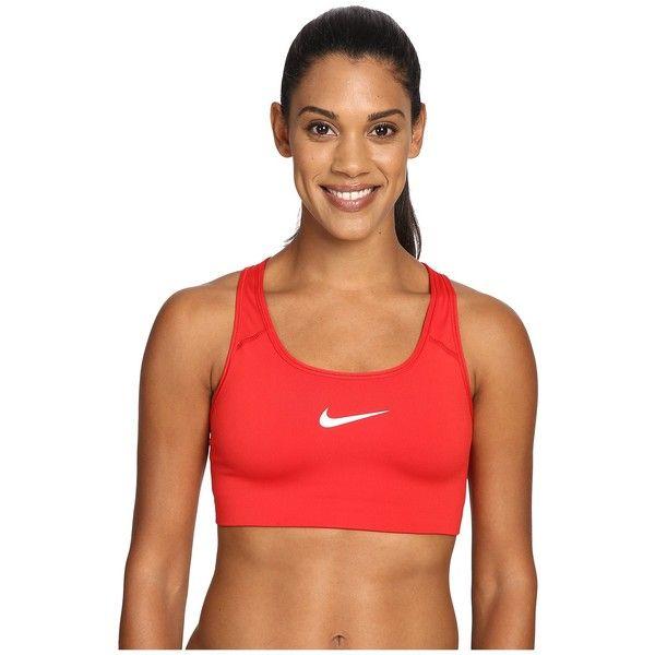 Nike Pro Classic Swooshtm Sports Bra (University Red/White) Women's... (33 CAD) ❤ liked on Polyvore featuring activewear, sports bras, nike sports bra, sports bra, racerback sports bra, red sports bra and racer back sports bra