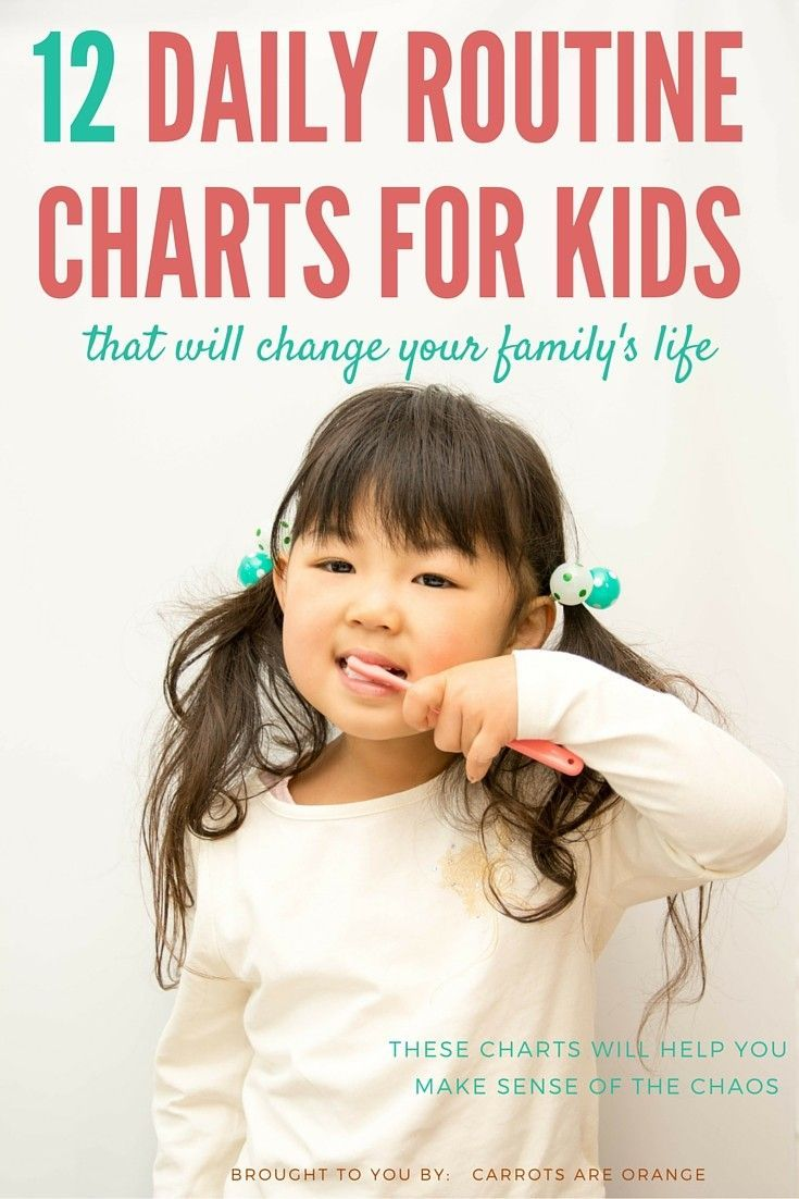 12 Brilliant Daily Routine Charts Your Kids Will Love ...