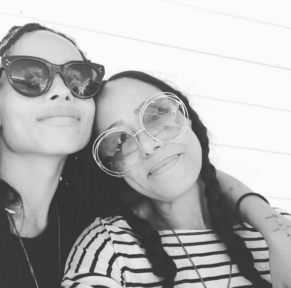 Zoe Kravitz and Godmother Cree Summers