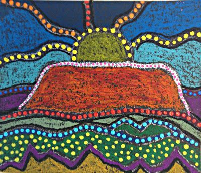 MaryMaking: Uluru Landscape Aboriginal Inspired Art