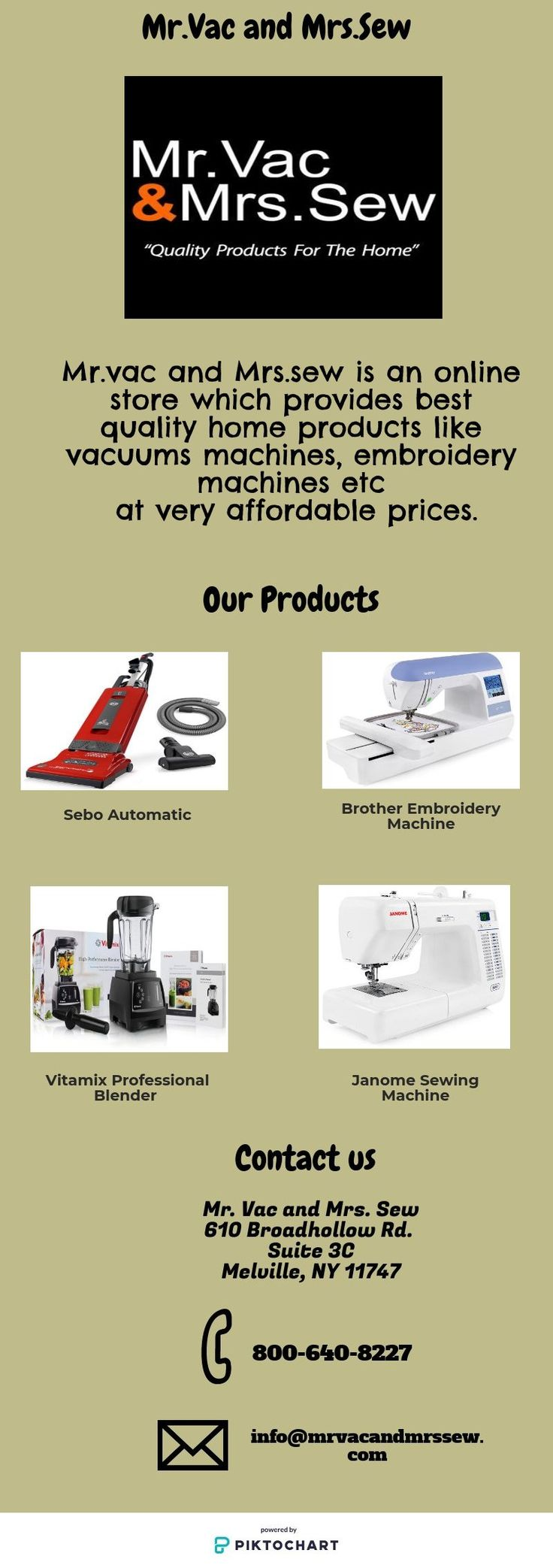 Mr Vac And Mrs Sew Is An Online Which Provides Best Quality Home Products Like Vacuums Machines Embroidery Etc At Very Affordable P