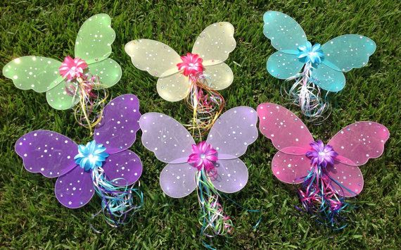 6 Winx Club Fairy WingFairy Party Favors Fairy by partiesandfun, $54.00. Also check out my cute wings and tutu for your next event. www.partiesandfun.etsy.com