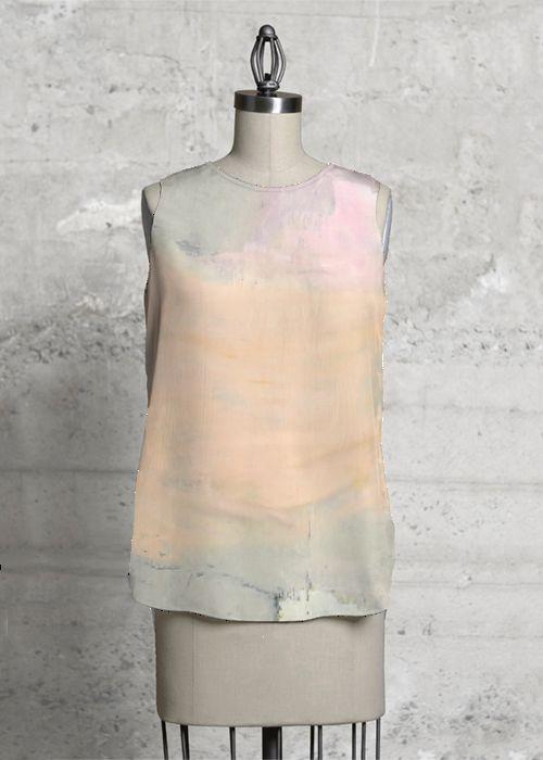 """Inconsistency"", sleeveless top.   Design: Siri Skogstad Berntsen  http://www.shopvida.com/collections/voices/siri-skogstad-berntsen"